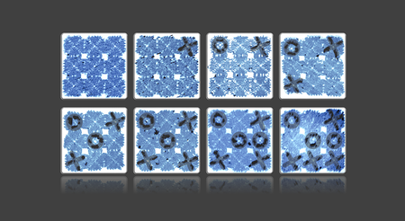 An artist's rendering of a game of tic-tac-toe played with DNA tiles @ Caltech