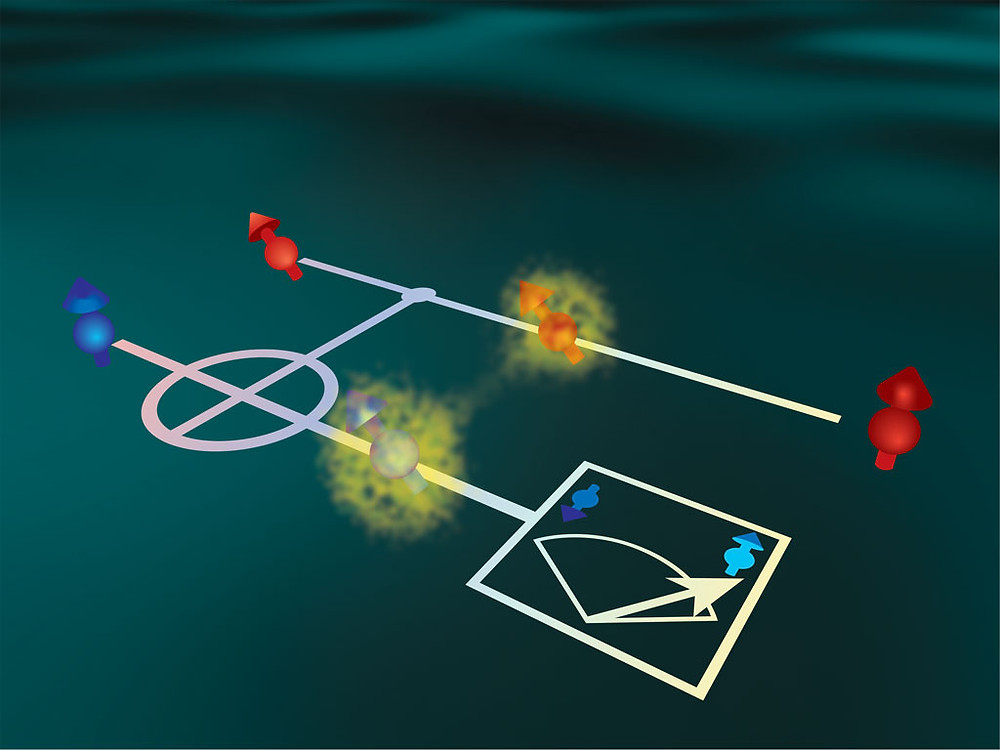 RIKEN researchers have realized a method for measuring the spin of an electron in a semiconductor quantum dot without altering the spin state of the electron. @ RIKEN Center for Emergent Matter Science