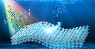 Integrating nanomaterial with light-absorbing molecule powers hydrogen production from water and sun