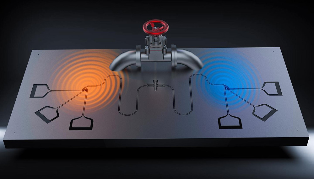 With the valve, researchers can control the heat moving through the qubit. @ Jorden Senior / Aalto University