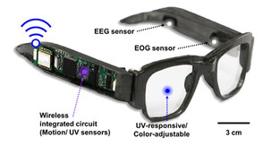 Multifunctional e-glasses monitor health, protect eyes, control video game