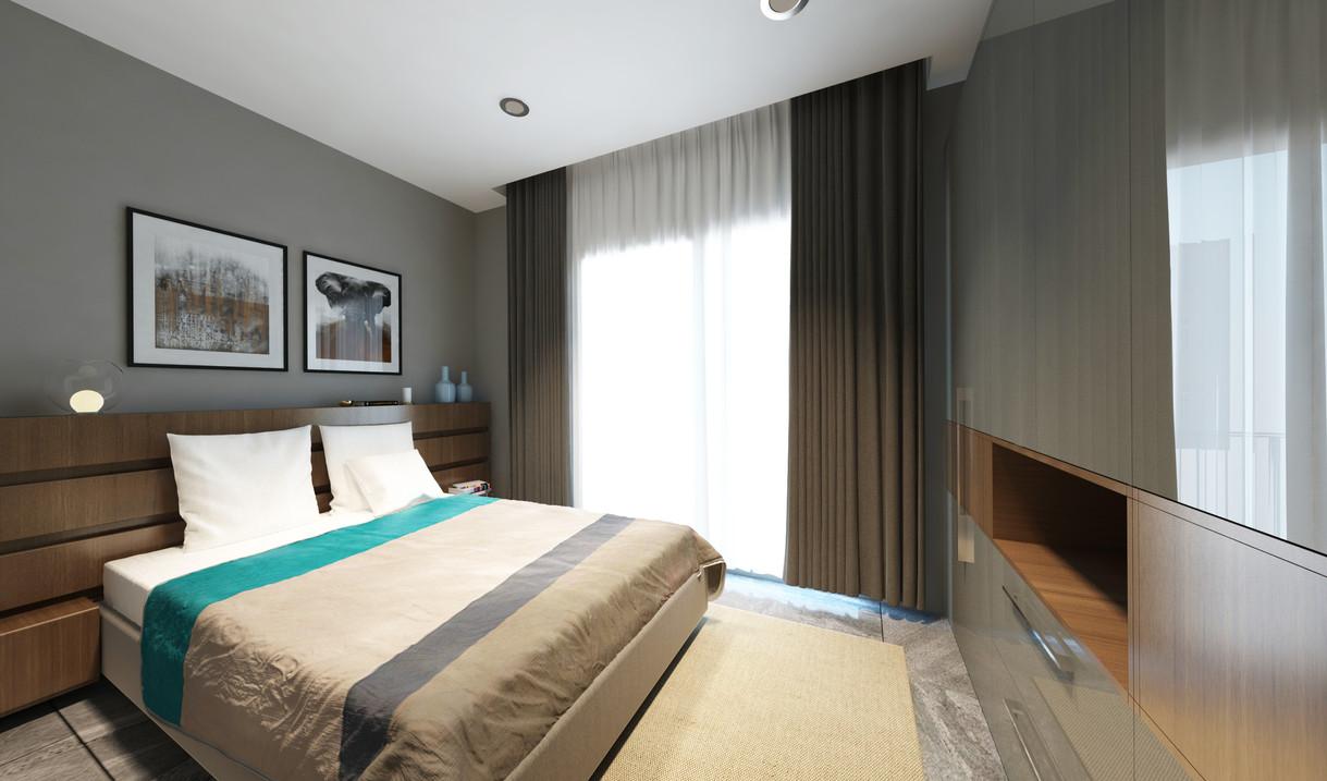 1+1 plan - Bedroom