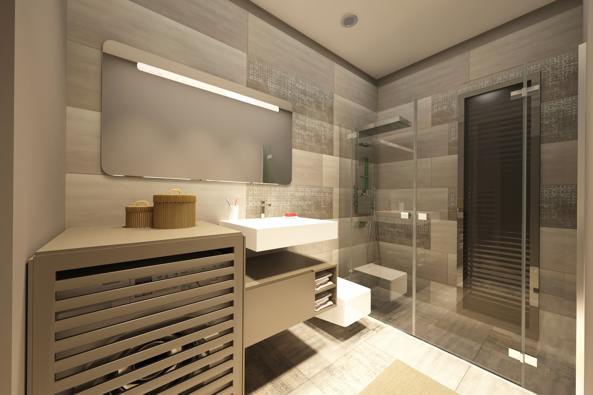 2 + 1 plan -Bathroom