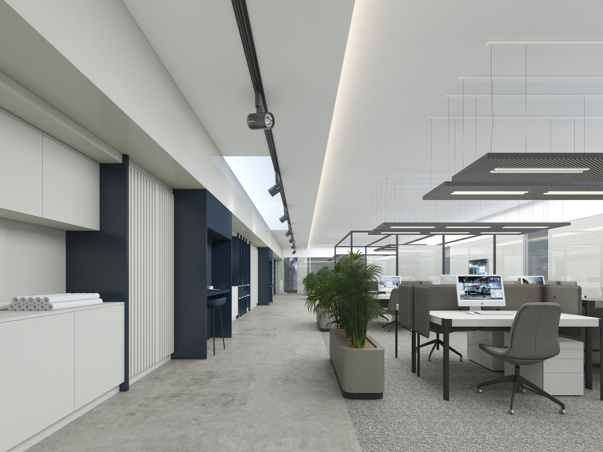 Open Office Circulation Area