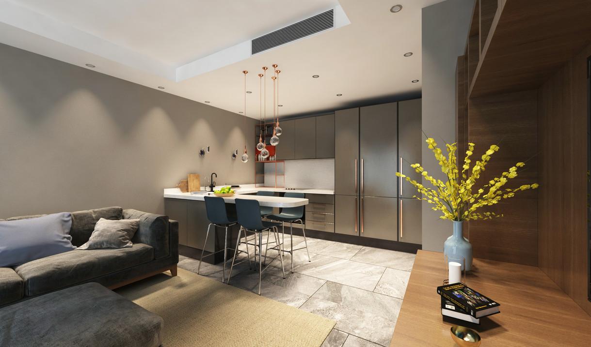1 + 1 plan - Living area