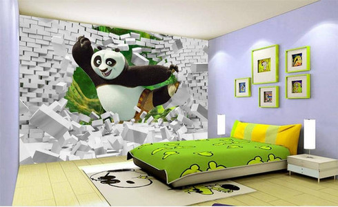 Kung fu boys room wallpaper