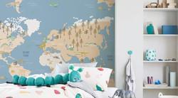 blue worldmap