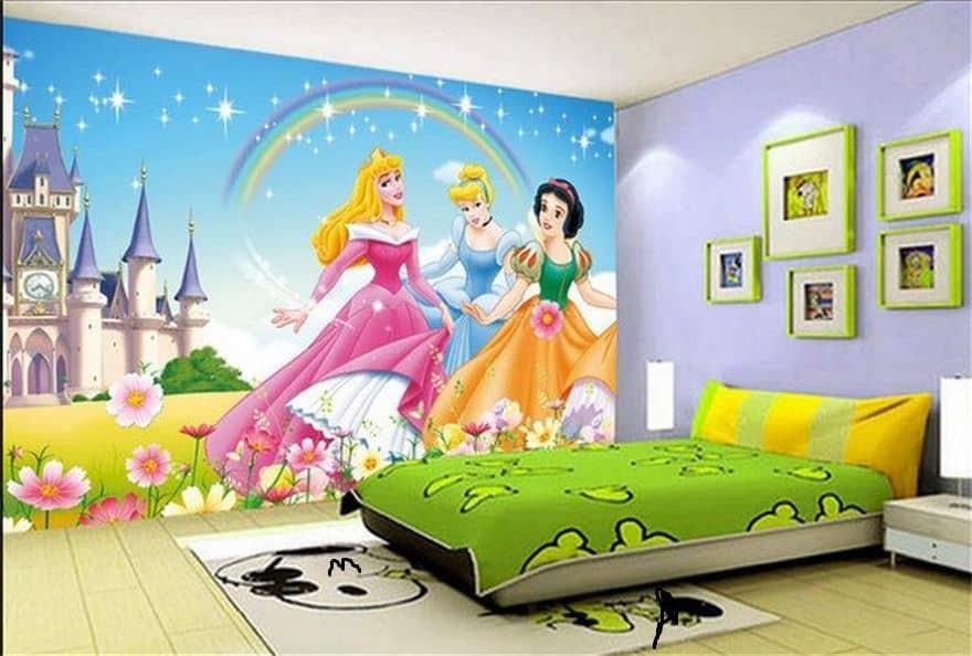 Princesses girls room wallpaper