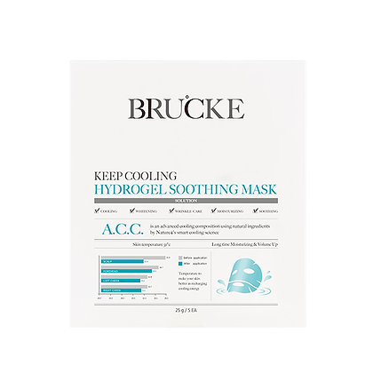 BRUCKE A.C.C. Cooling Hydrogel Soothing Mask (1 buc)