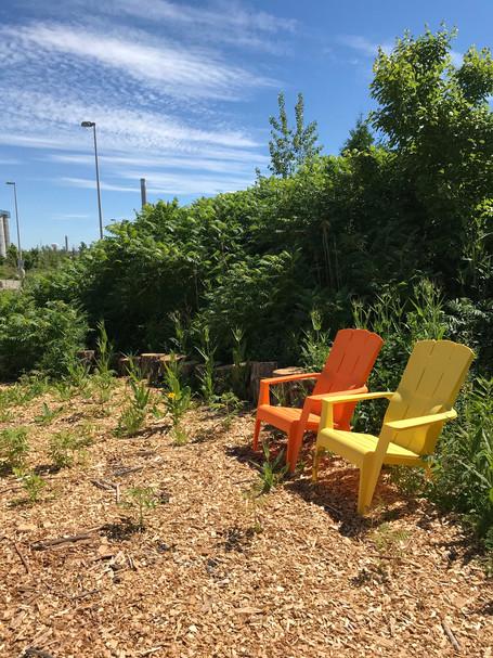 Quiet sitting area