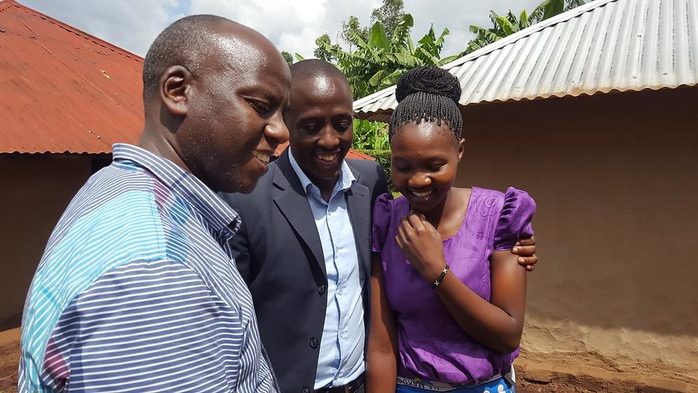 Samuel Mwangi and Geofrey Ombaso and Wife