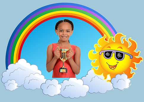 girl with trophy in rainbow clouds 5_edi