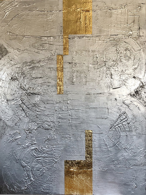 Silver/gold abstract