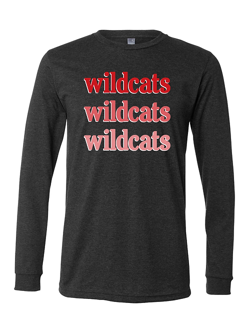 NV Spirit Wildcats Long Sleeve Tee