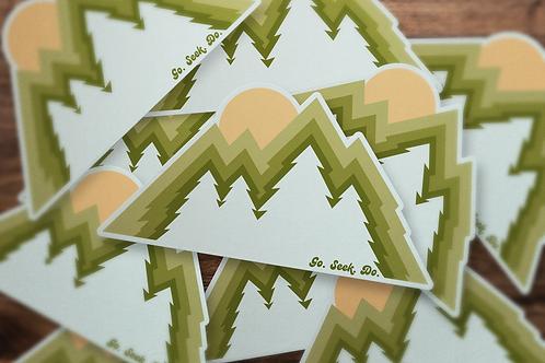 Tree Peaks Sticker