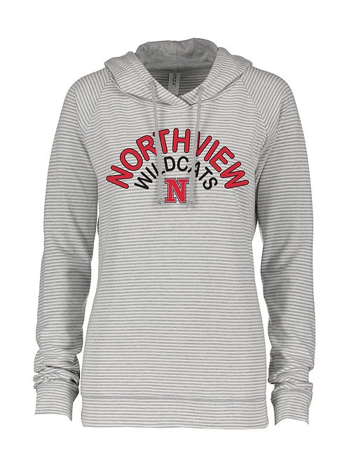 NV Spirit Ladies Lightweight Stripe Hoodie