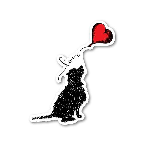 A Dog's Love Sticker