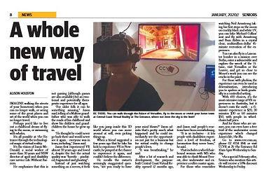 VR Seniors paper article