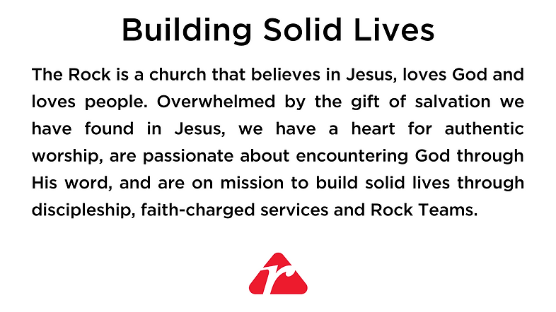 The Rock is a church that believes in Je