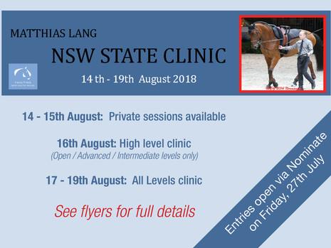 NSW Clinics with Matthias Lang
