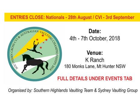 Australian Vaulting Championships & Southern Cross CVI