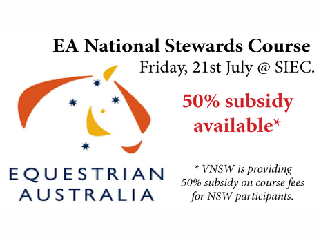 EA National Stewards Course (Vaulting) Friday, 21st July