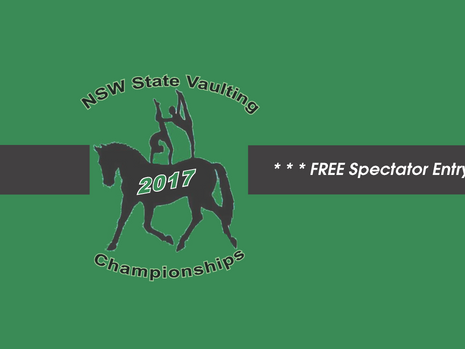 NSW Vaulting Championships: 21st - 23rd July, 2017.