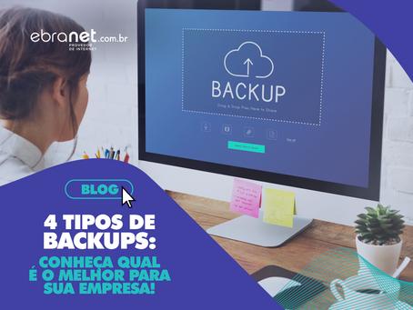 4 tipos de backups: conheça qual é o melhor para sua empresa!