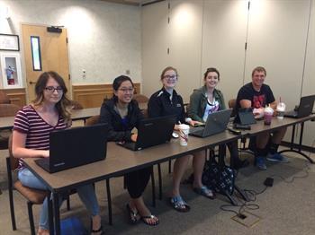 From Left: Erica Abercrombie, Emily Do, Mady Gibbs, Taylor Kuntz, Alex Kennedy