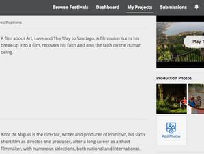Primive at Filmfreeway, the best distribution platform...!