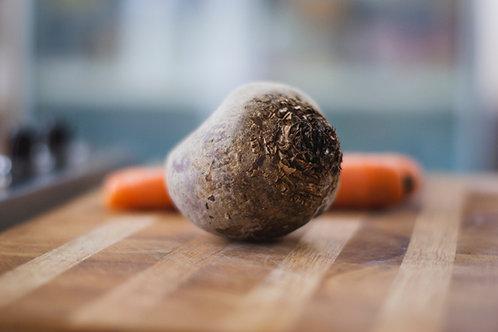 Verrine de carottes et betteraves, vinaigrette acidulée