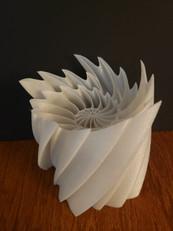 3D Printed Modern Nautilus Lamp