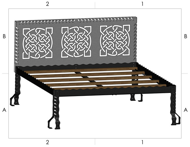 Bed Frame and Headboard Model