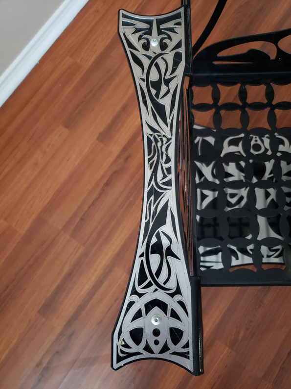 Tree of Life Chair Stainless Steel Armrest