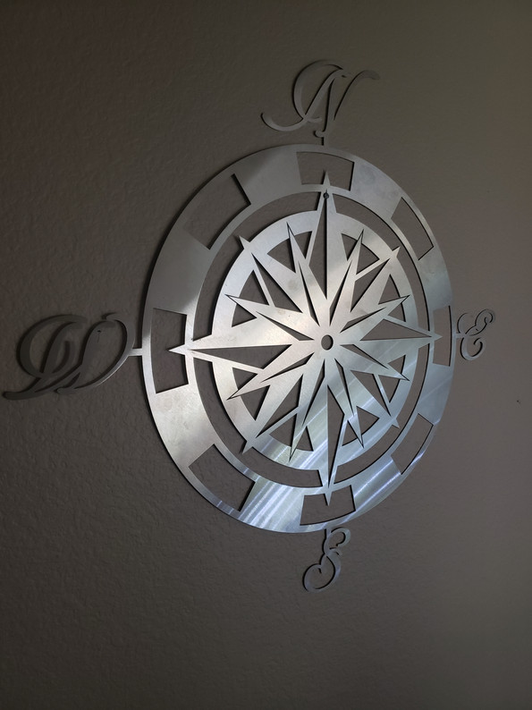 Stainless Steel Compass Wall Hanger