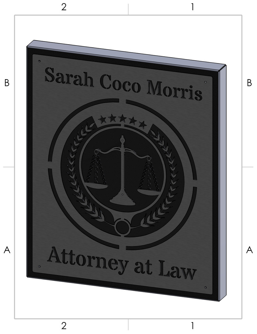 Attorney at Law Wall Hanger Model