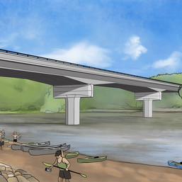 Bridge Architecture Rendering (Alternative #2)