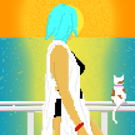 girl n cat sunset.png