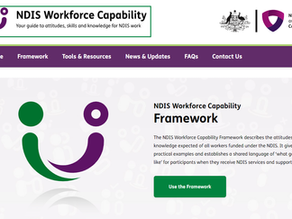 The NDIS Workforce Capability Framework and the DSW Cost model
