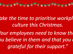 3 Culture Building Tips for Disability Leaders this Christmas.