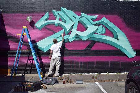 Scott Parsons graffiti painting