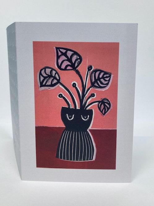 Vase Card - Pink