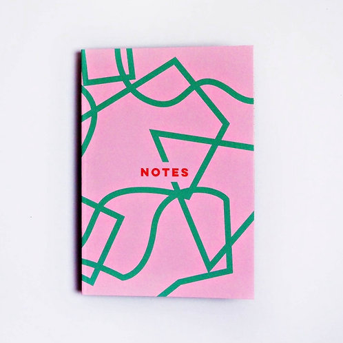Pink Shapes Notebook