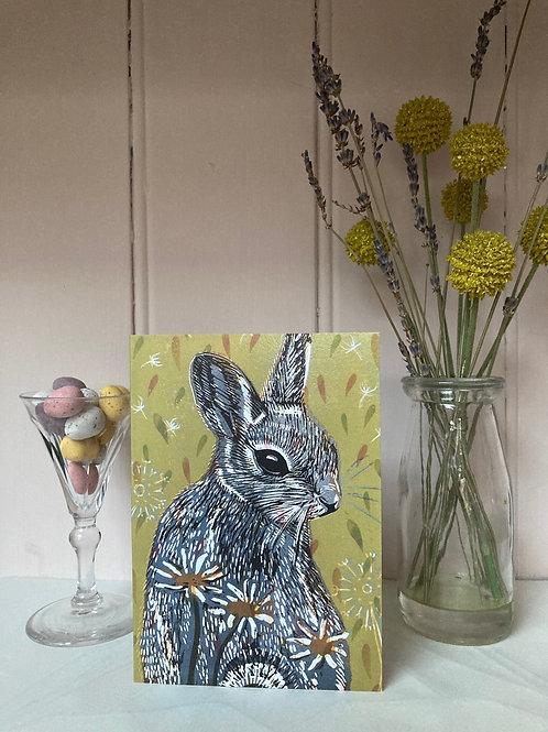 'Hazel' Bunny Card