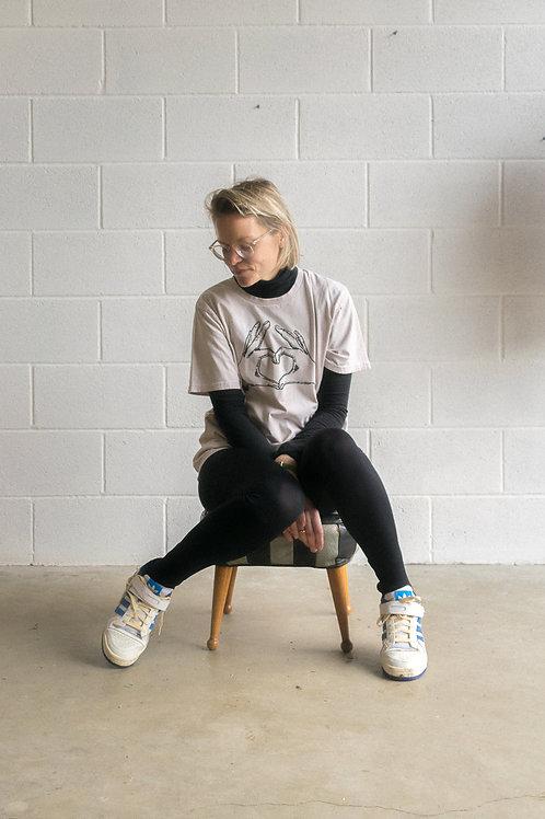 Walnut 'Love' T-shirt - Adult