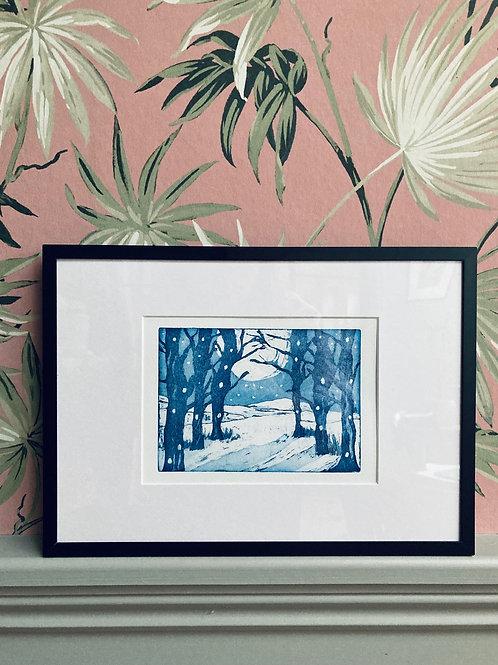 Winter Woods - Aquatint