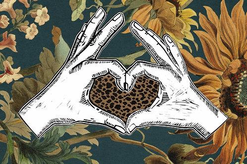 Heart Hands - Teal
