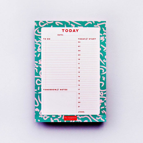 Green Squiggle Daily Planner
