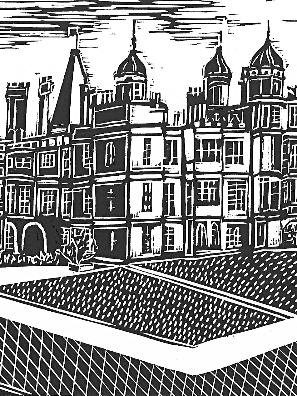 Burghley House Monochrome