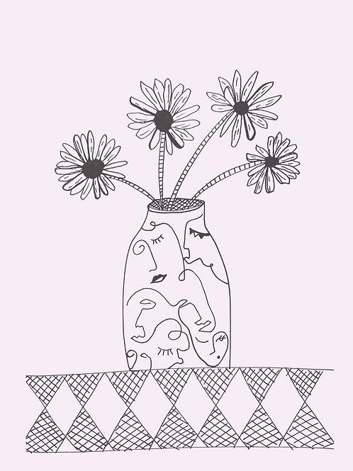 Daisy Face Greeting Card